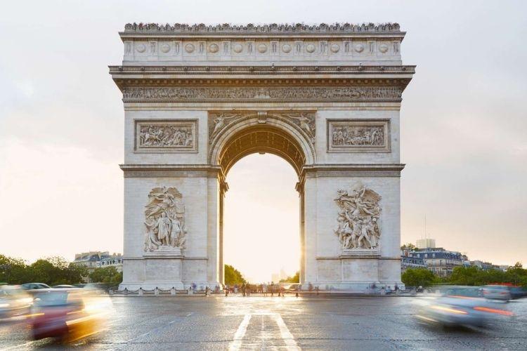 L'arc de Triomphe en france
