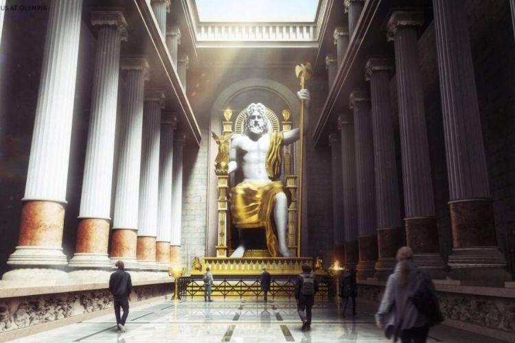 statue de Zeus : 3ème merveille du monde
