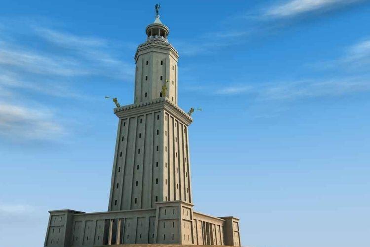 phare d'Alexandrie : l'une des merveilles du monde